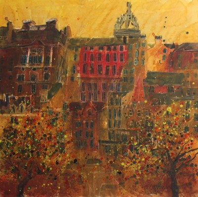 Limited Edition Prints Artist Susan Brown - St Giles from Princes Street, Edinburgh