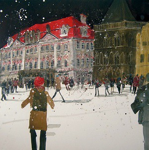 Limited Edition Prints Artist Susan Brown - House of the Stone Bell, Prague