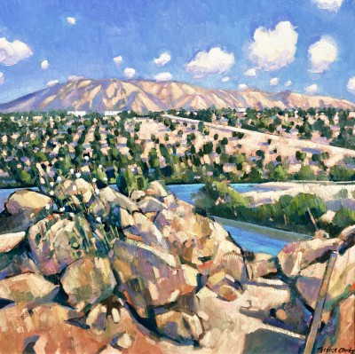 British Artist Terence CLARKE - Mountains in the Veja Bega, Spain