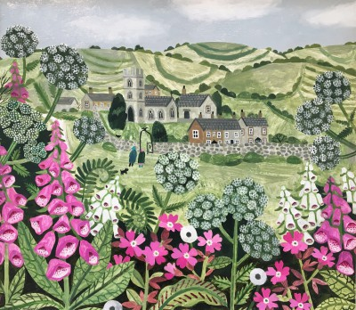 Vanessa BOWMAN - Church and Summer Hedgerow